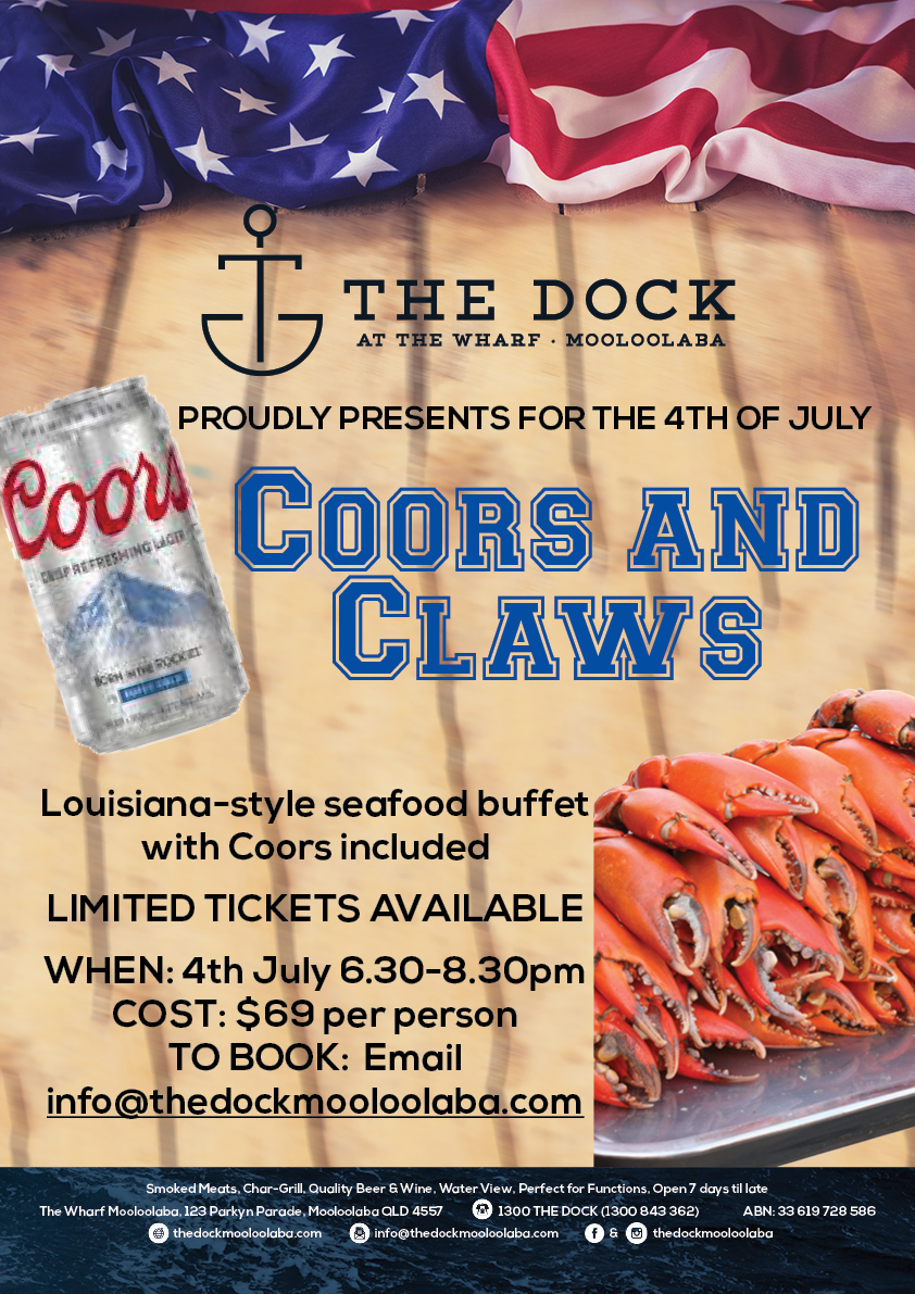 Celebrate the 4th of July with our Coors & Claws buffet